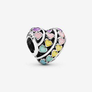 Rainbow Hearts Charm